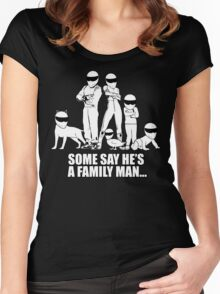 Top Gear - Some Say He's a Family Man... Women's Fitted Scoop T-Shirt