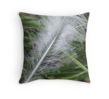 Feather In The Wind Throw Pillow