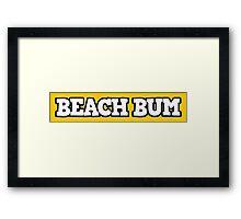 Beach Bum 2 Framed Print