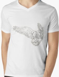 Owl hand drawn Mens V-Neck T-Shirt