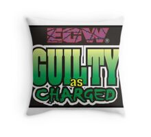 ECW guilty as charged Throw Pillow