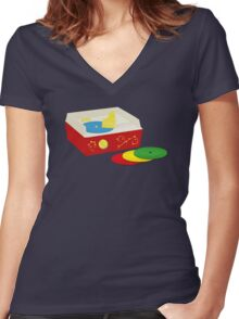 You never forget your first record collection Women's Fitted V-Neck T-Shirt