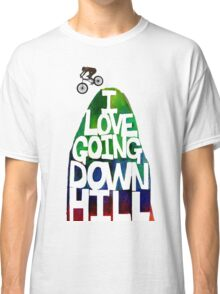 I Love Going Downhill (White) Classic T-Shirt