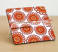 business card holder printed popart floral design by artiseverything