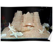 Sandcastle cake. Poster