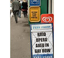 comedy signs  in bridlington Photographic Print