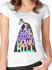 I Love Going Downhill Women's Fitted Scoop T-Shirt