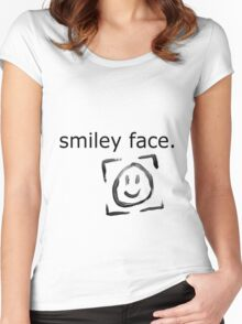 Smiley Face. Women's Fitted Scoop T-Shirt