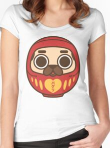 Puglie Daruma Women's Fitted Scoop T-Shirt