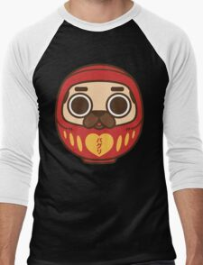 Puglie Daruma Men's Baseball ¾ T-Shirt