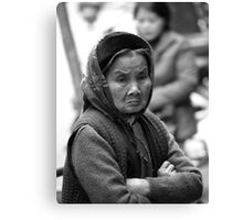 peoplescapes #343, scowl Canvas Print