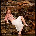 Lisa on waterfall by Erovisions Studio