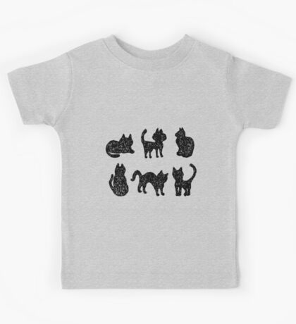 Black cats Kids Tee