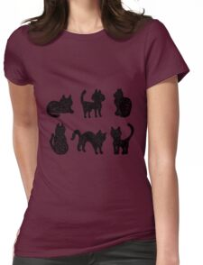 Black cats Womens Fitted T-Shirt