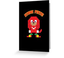 8Bit Knuckles Greeting Card