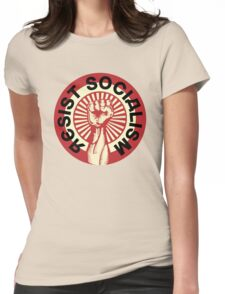 RESIST SOCIALISM Womens Fitted T-Shirt