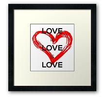 Love Is Love Is Love (Black) Framed Print