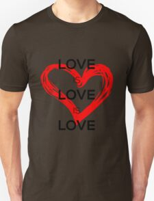Love Is Love Is Love (Black) T-Shirt