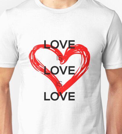 Love Is Love Is Love (Black) Unisex T-Shirt