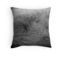Fur detail Throw Pillow