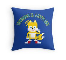 8Bit Tails Throw Pillow