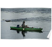 Fishing The Allegheny River at Siverly Poster