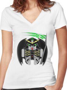DROIDScythe Hell Women's Fitted V-Neck T-Shirt