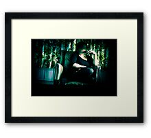 Emotional and physical expressions of anxiety. Framed Print
