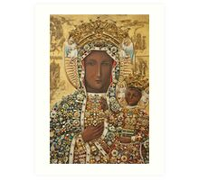 Our Lady of Czestochowa Bejeweled Picture Art Print