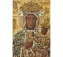 Our Lady of Czestochowa Bejeweled Picture Photographic Print