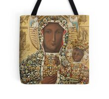 Our Lady of Czestochowa Bejeweled Picture Tote Bag