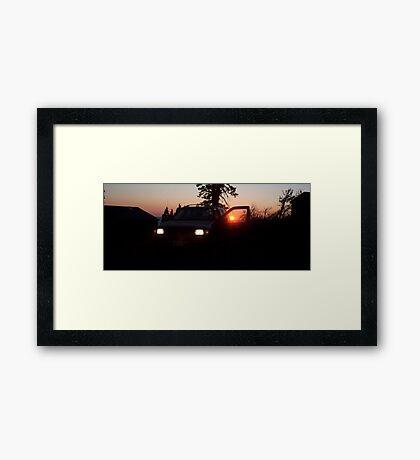 Red Sunset SUV Framed Print