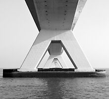 Zeeland Bridge, The Netherlands by VanOostrum