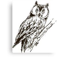 Owl hand drawn Canvas Print