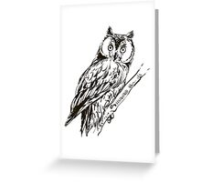Owl hand drawn Greeting Card