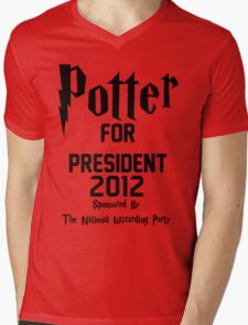 Potter for President 2012 Sponsored by The National Wizarding Party Mens V-Neck T-Shirt