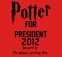 Potter for President 2012 Sponsored by The National Wizarding Party T-Shirt