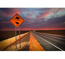 Coat of arms drive, outback Western Australia  Photographic Print