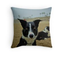 Colorized Dog Throw Pillow