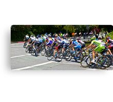 Turning Cyclists Canvas Print