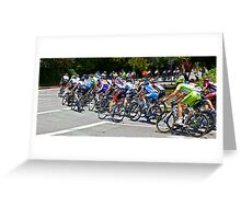 Turning Cyclists Greeting Card