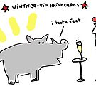 Vintner Tip Rhinoceros by Ollie Brock