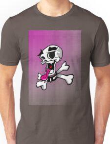 crazy skull colour pink Unisex T-Shirt