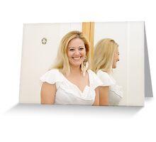 Woman in Mirror II Greeting Card