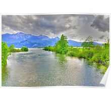 River Mountain Nature Germany Poster