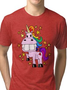 Magical Rainbow Unicorn Tri-blend T-Shirt