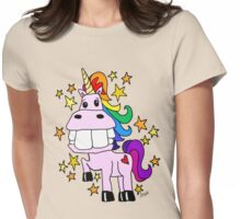Magical Rainbow Unicorn Womens Fitted T-Shirt