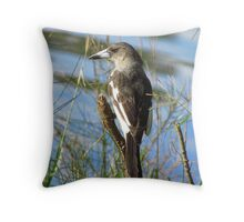 Butcher Bird Throw Pillow