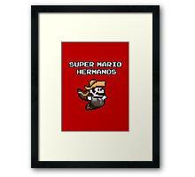 Super Mario Hermanos Framed Print