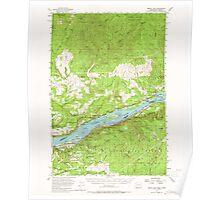 USGS Topo Map Washington Bridal Veil 240222 1954 62500 Poster